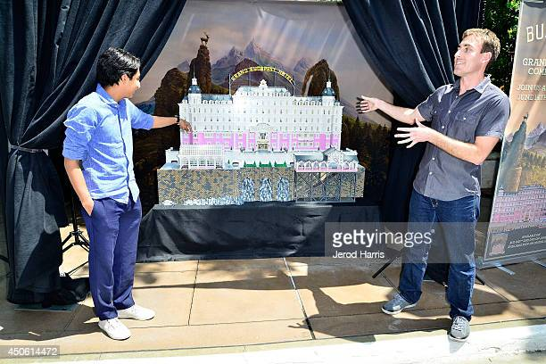 Tony Revolori and Lego builder Ryan Ziegelbauer attend the Unveiling of 'Grand Budapest Hotel' Made of 50000 Lego bricks in celebration of the...