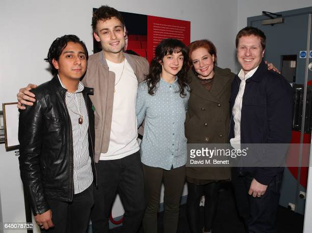 Tony Revolori Douglas Booth Patsy Ferran Charlotte Lucas and Tom Attenborough attend Press Night after party For 'Speech and Debate' on February 24...