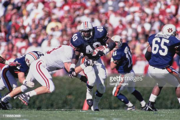Tony Richardson Running back for the University of Auburn Tigers runs the ball during the NCAA Southeastern Conference college football game against...