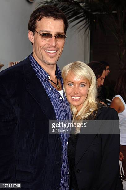 Tony Robbins and wife Sage during 'Cinderella Man' Los Angeles Premiere at Gibsob Amphitheater in Universal City California United States