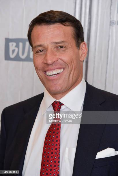 """Tony Robbins attends the Build Series to discuss """"UNSHAKEABLE: Your Financial Freedom Playbook"""" at Build Studio on March 7, 2017 in New York City."""