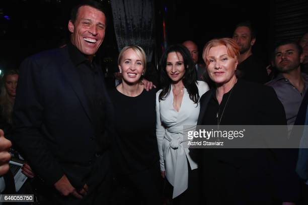 Tony Robbins Sage Robbins and Deborra Lee Furness attend Tony Robbins' Birthday celebration and book launch of UNSHAKEABLE presented by DuJour Gilt...
