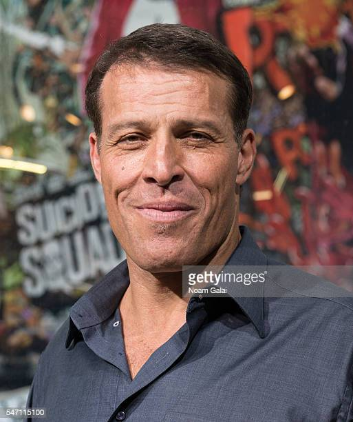 """Tony Robbins visits """"Extra"""" at H&M Times Square on July 13, 2016 in New York City."""