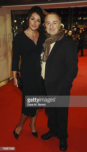 Tony Robinson and Louise Hobbs arrive at the UK film premiere of 'Blood Diamond' at Odeon Leicester Square on January 23 2007 in London England