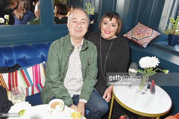 Tony Robinson and Louise Hobbs attend a private breakfast hosted by Azzi Glasser to launch of new fragrance 'After Hours' created by The Perfumer's...