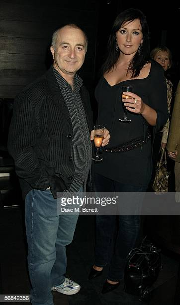 Tony Robinson with partner Louise Hobbs attend the after show party following the Albery Theatre press night for new stage production Blackbird at...