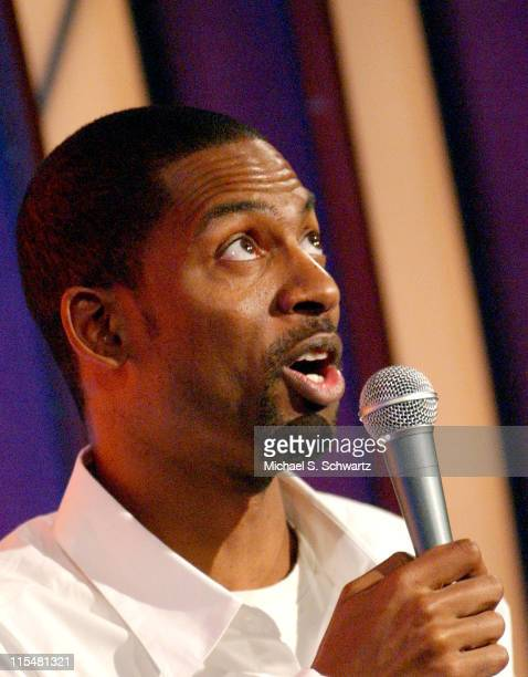 Tony Rock during Jon Lovitz Dane Cook Tony Rock and Jeff Cesario Perform at The Laugh Factory at The Laugh Factory in Hollywood California United...