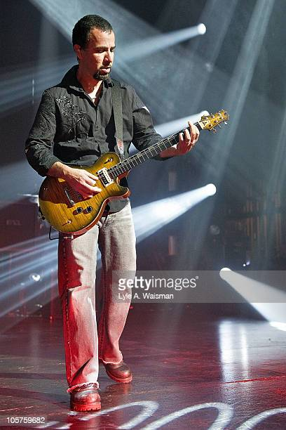 Tony Rombola of the band Godsmack performs at the Rosemont Theatre on October 15, 2010 in Chicago, Illinois.