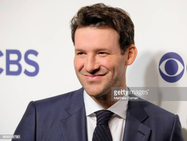 Tony Romo attends the 2018 CBS Upfront at The Plaza Hotel on May 16 2018 in New York City