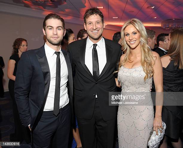 Tony Romo poses with Candice Crawford and Chace Crawford at the TIME/PEOPLE/FORTUNE/CNN White House Correspondents' Association Dinner Cocktail Party...