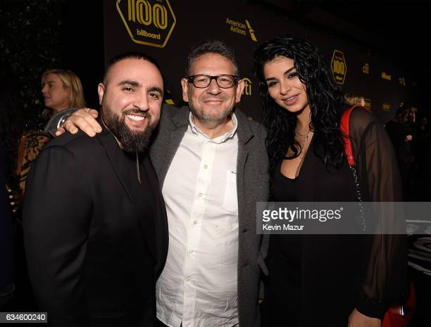 Tony Sal Lucian Grainge and Rima Slaiby attend Citi Presents 2017 Billboard Power 100 Celebration at Cecconi's Restaurant on February 9 2017 in Los...