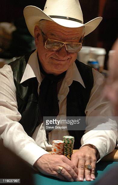 Tony Salinas takes part in day one of the World Poker Tour's Doyle Brunson North American Poker Championship at the Bellagio Hotel in Las Vegas...
