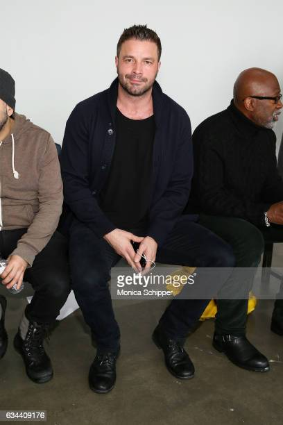 Tony Schiena attends the Ane Amour fashion show during New York Fashion Week at Pier 59 on February 9 2017 in New York City