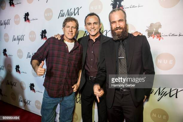 DJ Tony Scott Matt Cinquanta and Paul Louis Harrell attend Fia NyXX's Album Release Party at The Mint on March 29 2018 in Los Angeles California