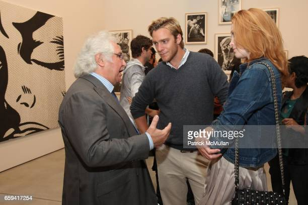 Tony Shafrazi Adam Haggiag and Alise Shoemaker attend Dennis Hopper's 'Signs of The Times' Opening at the Tony Shafrazi Gallery on September 12 2009...