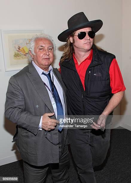 Tony Shafrazi and Val Kilmer are seen on December 4, 2009 in Miami Beach, Florida.
