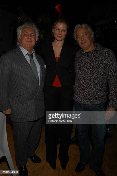 Tony Shafrazi Bridget Hall and Abe Rosen attend 50th Birthday Celebration for Jeff Koons at Jeffrey Deitch Gallery on January 21 2005 in New York City