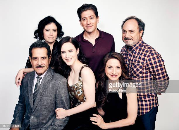 Tony Shalhoub Alex Borstein Rachel Brosnahan Michael Zegen Marin Hinkle and Kevin Pollak of Amazon's 'The Marvelous Mrs Maisel' pose for a portrait...
