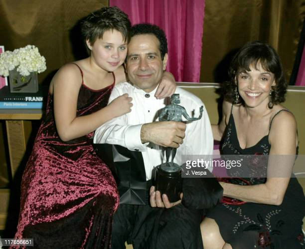 Tony Shalhoub and Brooke Adams with their daughter Sophie