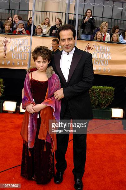 Tony Shalhoub and daughter Sophie during 10th Annual Screen Actors Guild Awards Access Hollywood Red Carpet at Shrine Auditorium in Los Angeles...