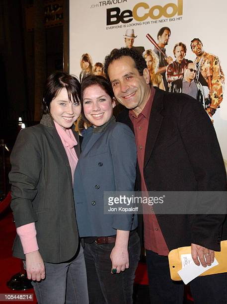 Tony Shalhoub and daughters during 'Be Cool' Los Angeles Premiere Arrivals at Grauman's Chinese Theater in Hollywood California United States