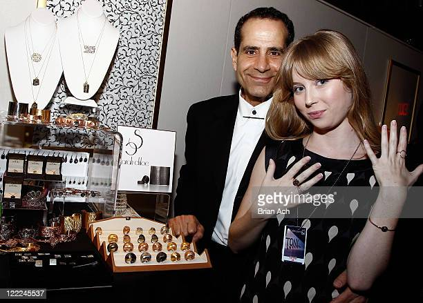 Tony Shalhoub and Josie Lynn Adams attend the 64th Annual Tony Awards Official Gift Lounge produced by On 3 Productions at Radio City Music Hall on...