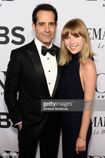Tony Shalhoub and Josie Lynn Adams attend the 68th Annual Tony Awards at Radio City Music Hall on June 8 2014 in New York City