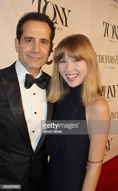 Tony Shalhoub and Josie Lynn Adams attend the American Theatre Wing's 68th Annual Tony Awards at Radio City Music Hall on June 8 2014 in New York City