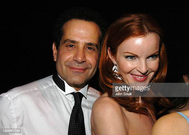 Tony Shalhoub and Marcia Cross during Backstage Creations 2005 Screen Actors Guild Awards The Talent Retreat Day 2 at Shrine Auditorium in Los...