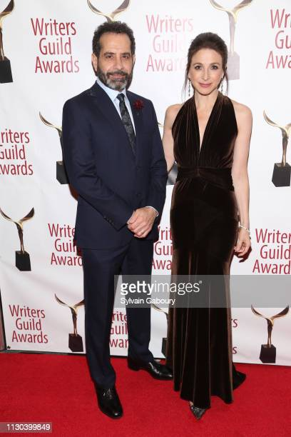 Tony Shalhoub and Marin Hinkle attend 71st Annual Writers Guild Awards New York Ceremony at Edison Ballroom on February 17 2019 in New York City