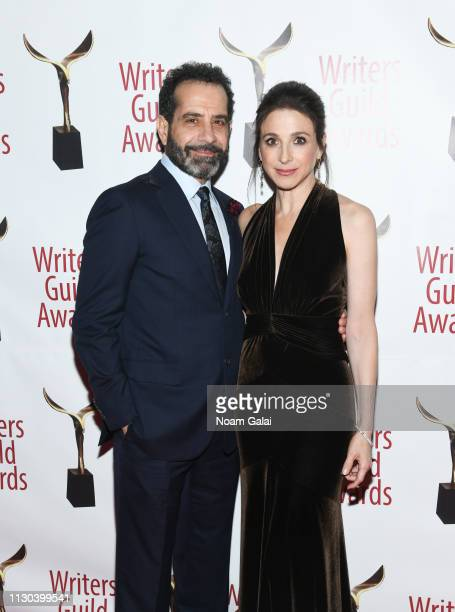 Tony Shalhoub and Marin Hinkle attend the 71st Annual Writers Guild Awards New York Ceremony at Edison Ballroom on February 17 2019 in New York City