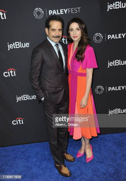 Tony Shalhoub and Marin Hinkle attend The Paley Center For Media's 2019 PaleyFest LA Opening Night Presentation Amazon Prime Video's The Marvelous...