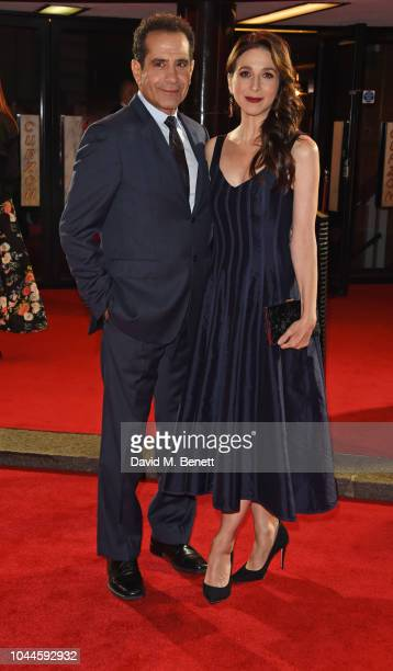 Tony Shalhoub and Marin Hinkle attend the World Premiere of Amazon Prime Video's The Romanoffs at The Curzon Mayfair on October 2 2018 in London...