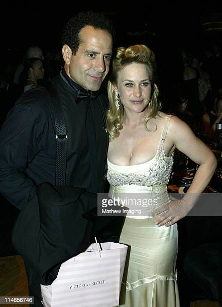 Tony Shalhoub and Patricia Arquette during 57th Annual Primetime Emmy Awards Governors Ball at The Shrine in Los Angeles California United States