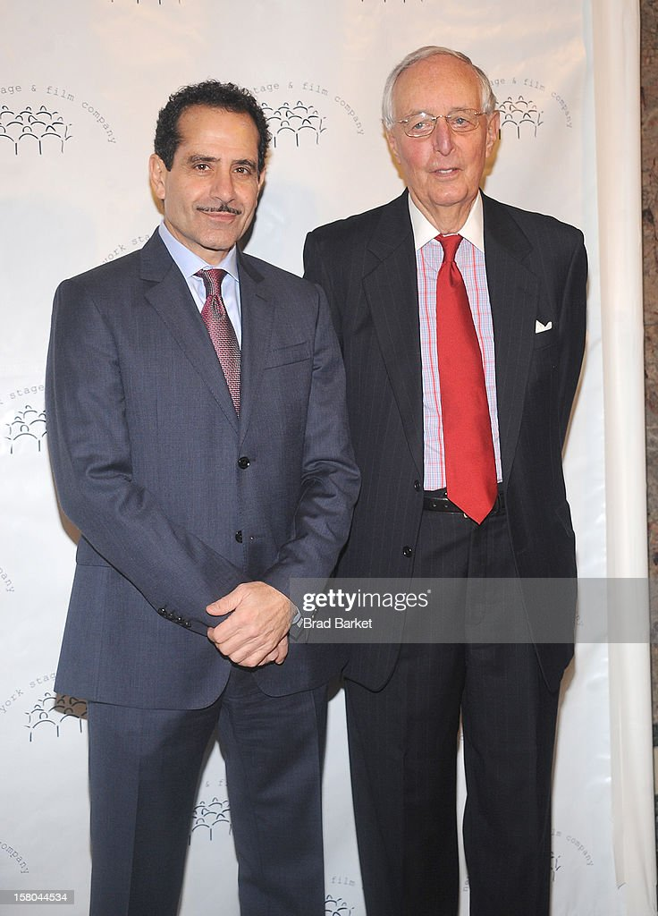 Tony Shalhoub and Roger Horchow attend the New York Stage and Film Annual Winter Gala at The Plaza Hotel on December 9, 2012 in New York City.