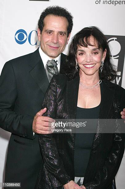 Tony Shalhoub and wife Brooke Adams during 59th Annual Tony Awards Red Carpet Arrivals at Radio City Music Hall in New York City New York United...