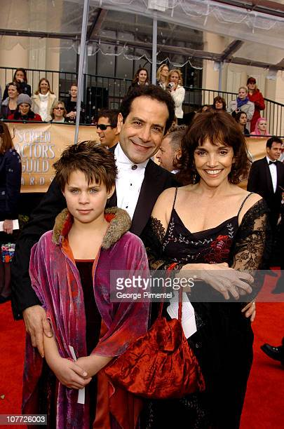 Tony Shalhoub and wife Brooke Adams with daughter Sophie