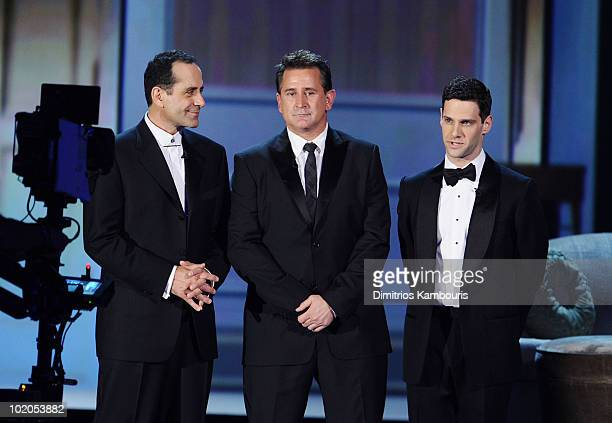 Tony Shalhoub Anthony LaPaglia and Justin Bartha onstage during the 64th Annual Tony Awards at Radio City Music Hall on June 13 2010 in New York City