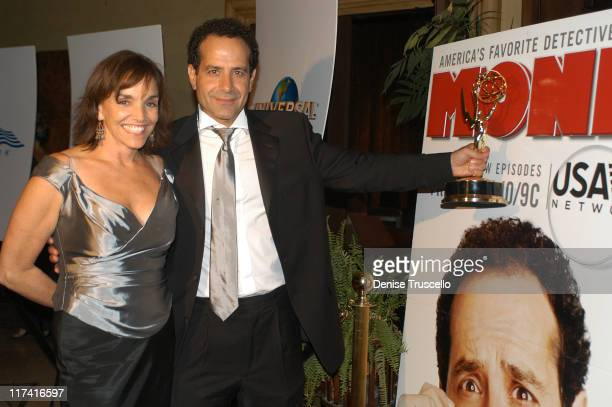 Tony Shalhoub Brook Adams during Universal's Emmy After Party at The Highlands in Hollywood California United States