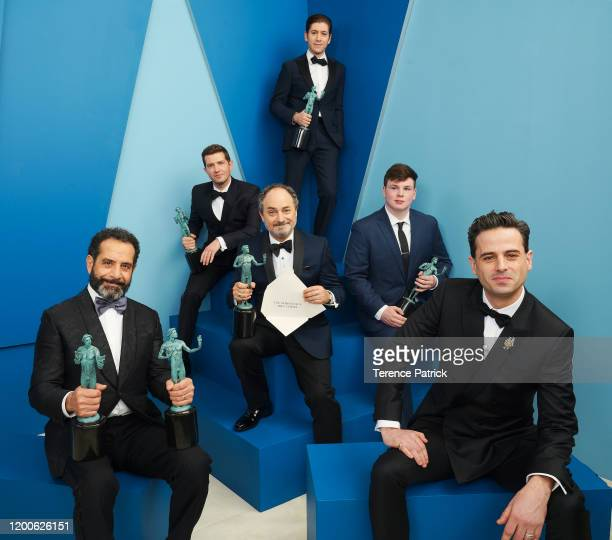 Tony Shalhoub Joel Johnstone Kevin Pollak Michael Zegen guest and Luke Kirby winners of the Outstanding Performance by an Ensemble in a Comedy Series...