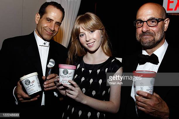 Tony Shalhoub Josie Lynn Adams and Stanley Tucci attend the 64th Annual Tony Awards Official Gift Lounge produced by On 3 Productions at Radio City...