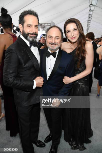 Tony Shalhoub Kevin Pollak and Marin Hinkle attend the 26th Annual Screen Actors Guild Awards at The Shrine Auditorium on January 19 2020 in Los...