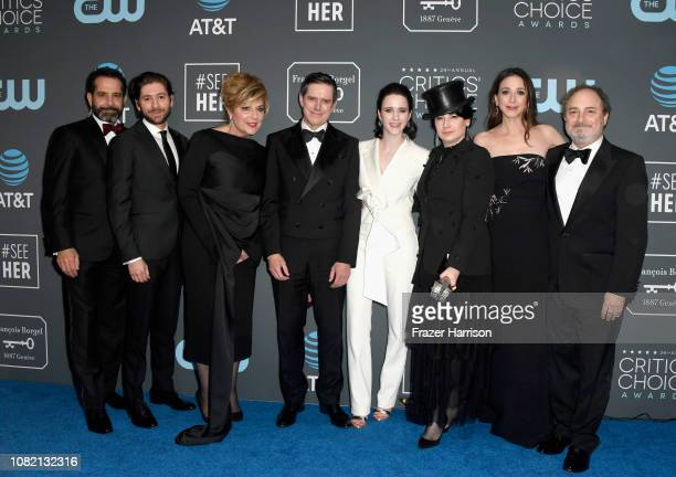 Tony Shalhoub, Michael Zegen, Caroline Aaron, Daniel Palladino, Rachel Brosnahan -- winner of the Best Actress in a Comedy Series award for 'The...