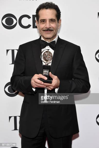 Tony Shalhoub poses in the 72nd Annual Tony Awards Media Room at 3 West Club on June 10 2018 in New York City