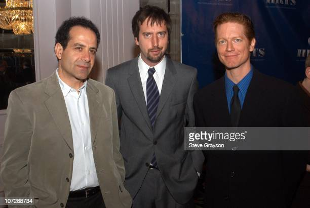Tony Shalhoub Tom Green and Eric Stoltz during The Hollywood Radio and Television Society's Cable Chiefs Luncheon Featuring Moderator Willow Bay at...