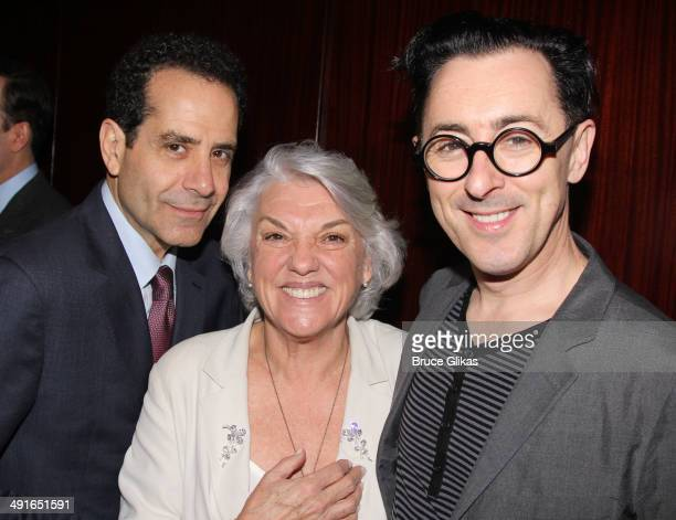 Tony Shalhoub Tyne Daly and Alan Cumming pose at the 80th Annual Drama League Awards Ceremony and Luncheon at The Marriot Marquis Times Square on May...