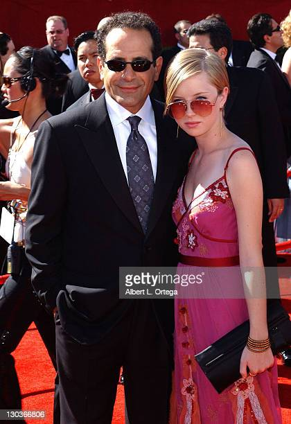 Tony Shalhoub with daughter Sophie during 58th Annual Primetime Emmy Awards Arrivals at Shrine Auditorium in Los Angeles California United States