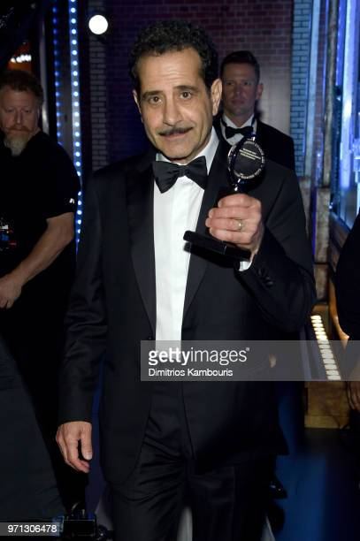 Tony Shaloub poses backstage during the 72nd Annual Tony Awards at Radio City Music Hall on June 10 2018 in New York City