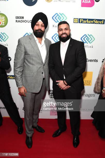 Tony Shergill and Humza Arshad attend the Brit Asia TV Music Awards 2019 at SSE Arena Wembley on November 30 2019 in London England