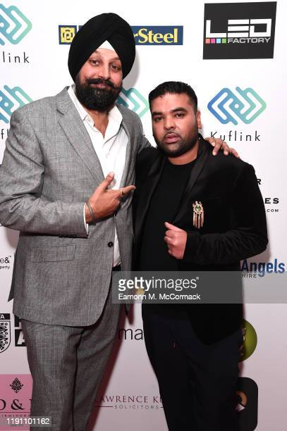 Tony Shergill and Naughty Boy attend the Brit Asia TV Music Awards 2019 at SSE Arena Wembley on November 30 2019 in London England